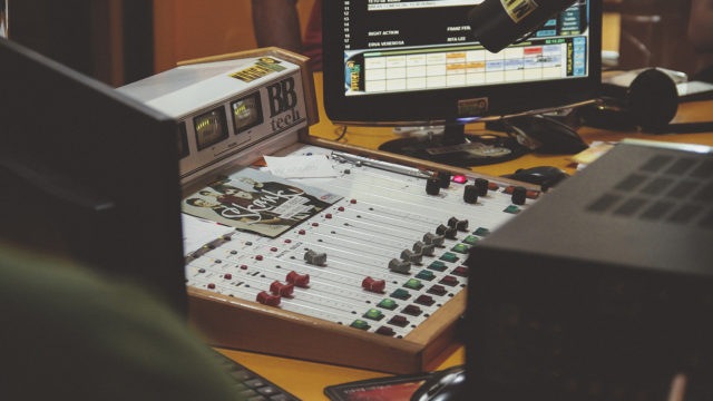 Old mixing table